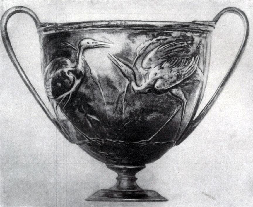 279 а. Серебряный сосуд из Боскореале. 1. в. н. э. Париж. Лувр.